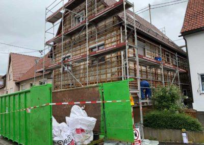 Sanierung von Asbestfassade