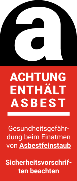 Gefahrstoffkennzeichen - Achtung enthält Asbest